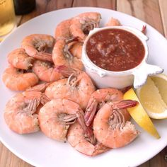 Boiled Shrimp & The Best Cocktail Sauce Ever