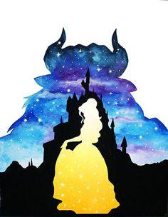 Best Disney Art Painting Quotes The Beast Ideas Images Disney, Disney Pictures, Watercolor Disney, Watercolor Art, Disney Drawings, Cute Drawings, Disney Animation Studios, Image Princesse Disney, Disney Kunst