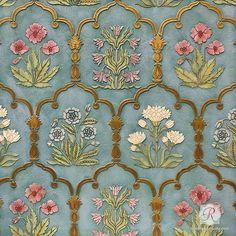 Floral Trellis Wall Stencils Indian Moroccan Vintage European Art Royal Design Studio