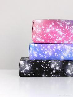 Sparkling stars gift wrap / free printables