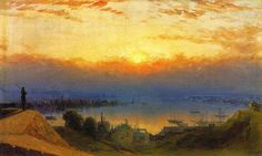 Sanford Robinson Gifford was born in Greenfield, New York, in 1823. He attended Brown University from 1842-1844 and moved to New York City in 1845 where he studied drawing, perspective and anatomy under the direction of the British watercolorist and drawing-master, John R. Smith. He also studied the human figure in anatomy classes at the Crosby Street Medical college and took drawing classes at the National Academy of Design. In 1846 he visited the Berkshire Hills and the Catskill Mountains…