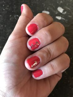Gellak nails done by myself first time