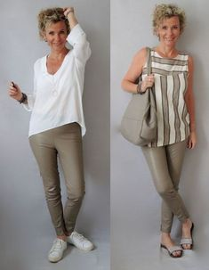 Moda anti-idade: Moda para senhoras - Chubby Tutorial and Ideas Fall Fashion Outfits, 50 Fashion, Mode Outfits, Fashion Over, Fashion Looks, Womens Fashion, Fashion Tips, Latest African Fashion Dresses, Latest Fashion Trends