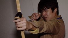 Shooter game uses real Japanese bow as interface