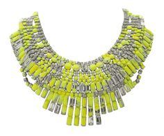 Yellow splattered necklace