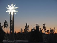 """Keplers star"" A picture of the star created by the norwegian painter Vebjørn Sand. Located at Gardermoen, Norway"