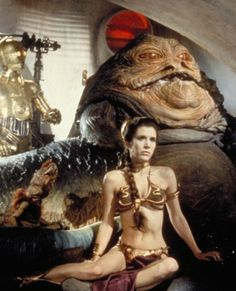 Ask many men what their favourite scene from the original 'Star Wars' trilogy is, and you'll likely find it wasn't when Luke Skywalker discovered Darth Vader was his father, but the scene featuring                          Carrie Fisher's Princess Leia                          in a gold bikini. Yes, even with Jabba the Hutt slobbering about in the background!