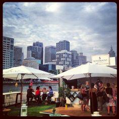 #PopUpBar Custom Cargo's beautiful Rosemount Estate #ContainerBar in action on Melbourne's Crown Casino waterfront.  www.customcargo.com.au