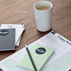 Organisieren leicht gemacht mit kukuwaja - Planner Zubehör Aufkleber als DIY - Gestalte mit unseren Aufklebern Deine eigenen blanko Notizbücher / Notizblöcke - www.kukuwaja.de