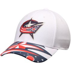 best service 8883c 46221 Columbus Blue Jackets Reebok Face Off Draft Flex Hat - White
