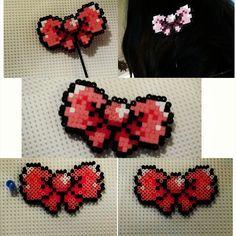 Bow hairclip hama mini beads by Muñecadraculaura
