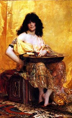 Salome, by Henri Regnault, French Oil 1870, Orientalist Art Page One