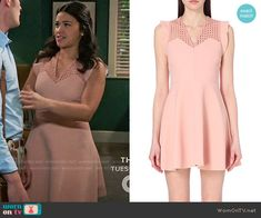 Sandro Rebell Dress worn by Gina Rodriguez on Jane the Virgin