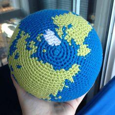 Crochet Globe Pattern World Earth Amigurumi by KaperCrochet