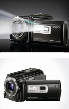 camcorder with built in projector