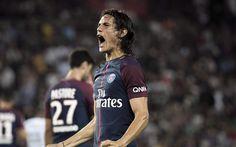 Download wallpapers Edinson Cavani, Paris Saint-Germain, PSG, France, football, Uruguayan footballer