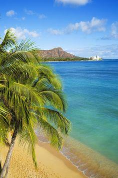 ✮ Hawaii, Waikiki - View of Diamond Head Just cause the word diamond and hawaii is our goal