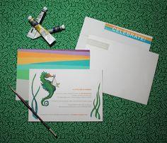 Baby Shower Invitations by Lauren Moyer, via Behance