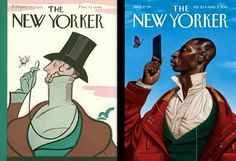 'Here's the original 1925 cover next to my updated 2015 painting!'