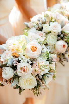 Lush bridesmaid bouquets: http://www.stylemepretty.com/little-black-book-blog/2014/11/28/elegant-tappan-hill-mansion-wedding-2/ | Photography: Tory Williams - http://www.torywilliams.com/