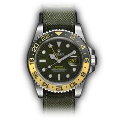 Bamford Watch Department USA – Customised Luxury Watches – Black Rolex MGTC – Rolex GMT Master II – 'Twister' – NATO