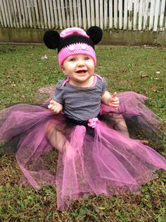 Minnie Mouse Costume Beanie and Tutu by HeatherBourque on Etsy