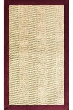 Marblehead Sisal Area Rug - Natural Fibers Rugs - Rugs | HomeDecorators.com various sizes, black border $60