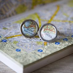 Cool location cufflinks that can be personalised