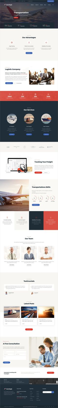 Translogic is a stylish and powerful #WordPress theme perfect for #webdev #logistics, #trucking, warehousing, transportation and freight services website download now➩ https://themeforest.net/item/translogic-logistics-transportation-wp-theme/19329142?ref=Datasata