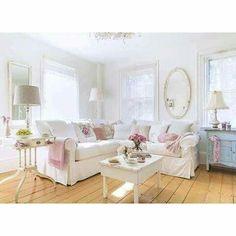 Shabby chic white pastel home