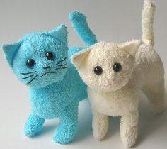 Gatinhos de Bigode: Como fazer um gatinho de peluche com uma toalha