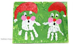 made by may: DIY handabdruck weihnachtsmann. Kindergarten Activities, Christmas Decorations, Snoopy, Kids Rugs, Holiday, Crafts, Puzzle, Fictional Characters, Paint