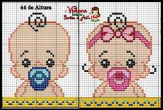 Baby boy/baby girl perler bead pattern
