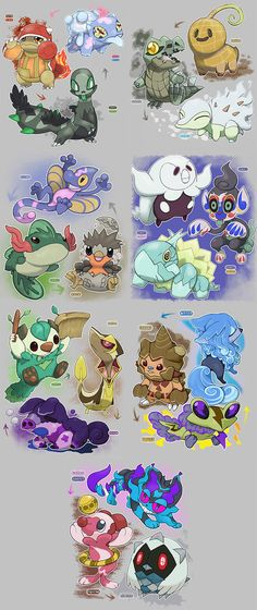 Alola Starters Regional Variant by Velink on DeviantArt Starter Pokemon Regional Variants from Velink Pokemon Comics, Pokemon Fan Art, Pokemon Fake, Pokemon Alola, Play Pokemon, Pokemon Fusion, Cute Pokemon, Pikachu, Digimon