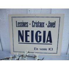 Ancienne publicité cartonnée Neigia
