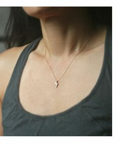 cute lightning pendant, jewelry, kind of reminds me of Harry Potter! simple jewelry, accessorize