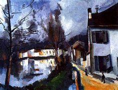"""Maurice de Vlaminck (París, 4 de abril de 1876 - Eure-et-Loir, 11 de octubre de 1958) fue un pintor fauvista francés. Vlaminck fue uno de los pintores que causaron escándalo en el Salón de otoño de 1905, que recibió el apelativo de """"jaula de fieras"""", dando nombre al movimiento del que formaba parte junto a Henri Matisse, André Derain, Raoul Dufy y otros."""