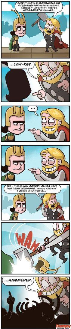 Funny Thor and Loki