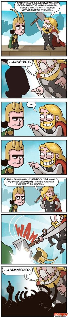 Funny Thor and Loki