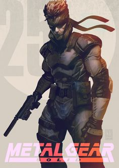 Metal Gear Solid: Solid Snake // artwork by Neeraj Menon Revolver Ocelot, Geeky Wallpaper, Metal Gear Games, Metal Gear Solid Series, Illustration Photo, Manga Illustration, Gear Art, Video Game Art, Video Games