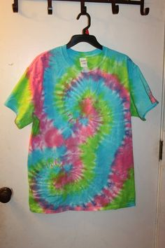Neon Colored Mustache or Double Spiral Size Large - Sunshine Tie Dye Shop
