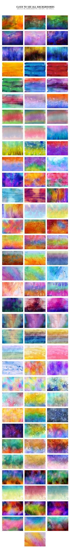 50% OFF Watercolor Backgrounds 3 by ArtistMef on @creativemarket