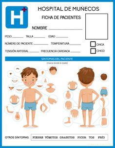 Imprimible GRATIS para jugar a médicos, montamos un hospital en casa Community Helpers, Blogger Themes, Ideas Para, Art For Kids, Homeschool, Family Guy, Teddy Bear, Animation, Printables