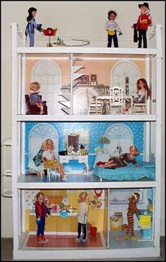 Sindy doll house - I had this but not all the furniture, so my friend Karen, who had the bathroom, used to bring it round with her.
