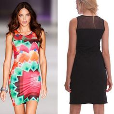Cool Flowers Striped Keen Length Dress | Fashion Dresses | Clothing & Apparel-ByGoods.Com