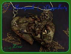Steampunk, Herz, Hearts, Kette, Charms, Fimo, Clay