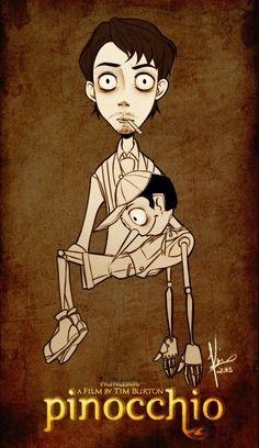 Tim Burton's Pinocchio by kaitastic.deviantart.com on @deviantART