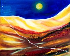 Lost in desert - Wüstenbild von VisionsOfEnergy auf Etsy Saatchi Art, Original Paintings, Deserts, Lost, Vintage, Canvas, Pictures, Abstract Pictures, Craft Gifts