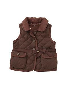 This Screams English Countryside! Quilted corduroy vest | Gap