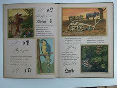 Orginal Bilder und Verse von Hans Thoma Scholz Künstler Bilderbücher Verlag von Jos. Scholz in Mainz kompl. erhalten mit Gebrauchsspuren